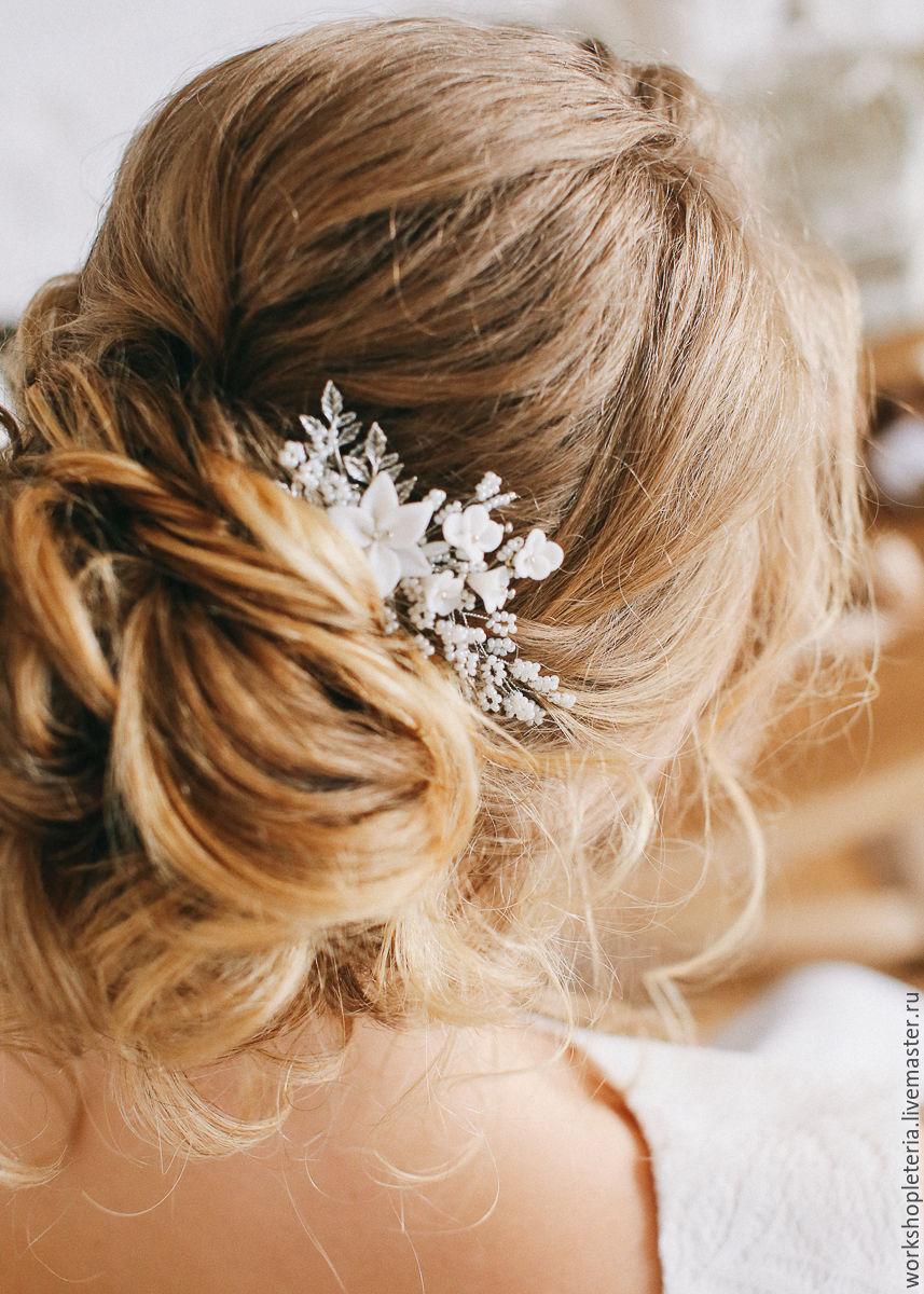 Свадебные причёски с гребнем