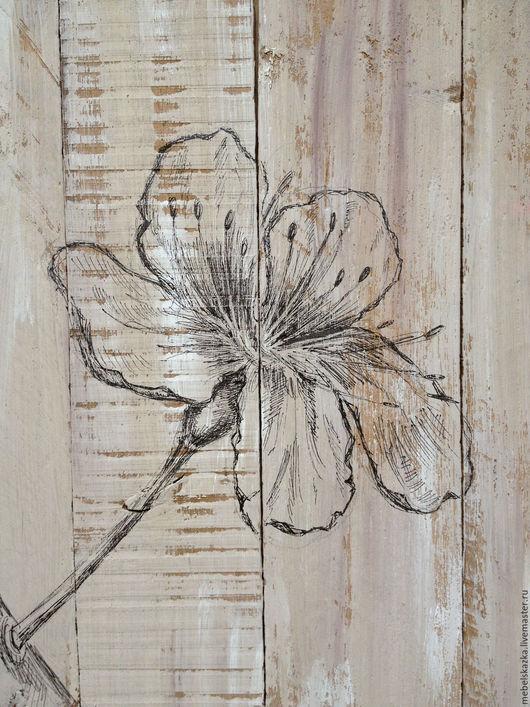 """Картины цветов ручной работы. Ярмарка Мастеров - ручная работа. Купить Панно настенные """"Сакура"""". Handmade. Бежевый, нежность, на стену"""