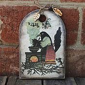 """Для дома и интерьера ручной работы. Ярмарка Мастеров - ручная работа Кухонная доска  """"Сорока-белобока"""". Handmade."""