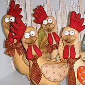 Куклы и игрушки ручной работы. Ярмарка Мастеров - ручная работа Петух. Символ 2017 года (текстильная кукла). Handmade.