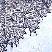 """Аксессуары ручной работы. Ярмарка Мастеров - ручная работа темно серая шаль  """"ЧАРА"""". Handmade."""