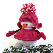 Куклы и игрушки ручной работы. Ярмарка Мастеров - ручная работа Снеговик. Снеговичок вязаный,  вязаный снеговик, новогодний снеговик. Handmade.
