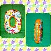Подушки ручной работы. Ярмарка Мастеров - ручная работа Подушки: Буквы, цифры подушки (ручная работа). Handmade.