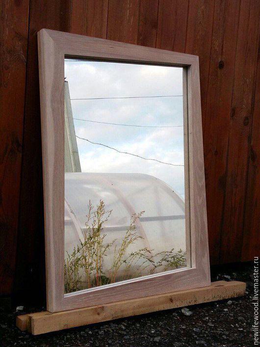 Зеркала ручной работы. Ярмарка Мастеров - ручная работа. Купить Зеркало. Handmade. Белый, зеркало в деревянной раме, дизайн