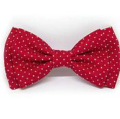 Аксессуары handmade. Livemaster - original item Bow tie red polka dot. Handmade.