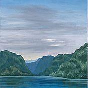"""Картины ручной работы. Ярмарка Мастеров - ручная работа Картина маслом """"Горное озеро"""". Handmade."""