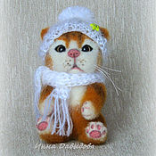 Куклы и игрушки handmade. Livemaster - original item Cat. A toy for an interior. Woolen toy.. Handmade.