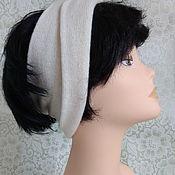 Аксессуары handmade. Livemaster - original item A headband with a lapel of milk-colored merino with cashmere. Handmade.