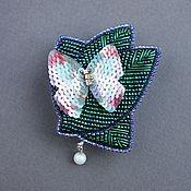 Украшения handmade. Livemaster - original item Clip Spring beads, sequins, riffle, pearls. Handmade.
