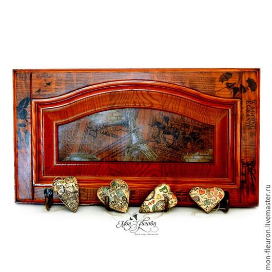"""Прихожая ручной работы. Ярмарка Мастеров - ручная работа. Купить Вешалка """"Парижский шарм"""". Handmade. Коричневый, вешалка в прихожую"""