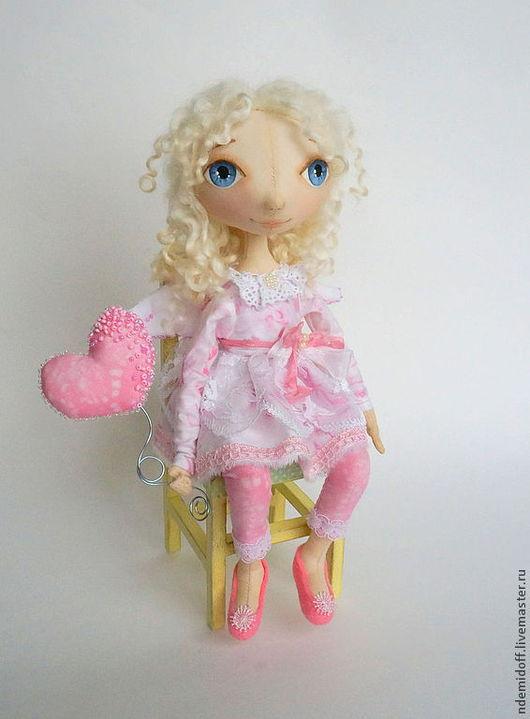 Куклы тыквоголовки ручной работы. Ярмарка Мастеров - ручная работа. Купить Ангелочек для Татьяны. Handmade. Бледно-розовый, тыквоголовая кукла