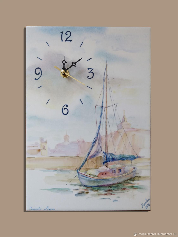 """Настенные Часы """"Парусник"""", Часы классические, Москва,  Фото №1"""