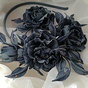Украшения handmade. Livemaster - original item flowers suede. Headband of roses