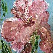Картины и панно handmade. Livemaster - original item Picture Pink iris. Handmade.
