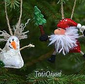 Подарки к праздникам handmade. Livemaster - original item Set textile Christmas tree decorations