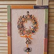 """Картины и панно ручной работы. Ярмарка Мастеров - ручная работа Панно""""Осенний веночек"""". Handmade."""