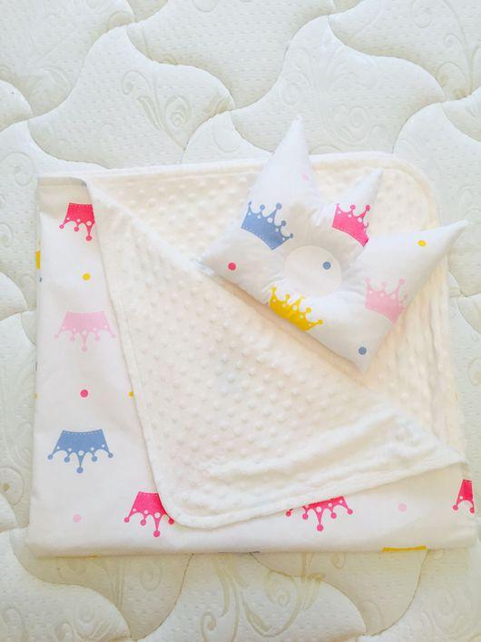 """Детская ручной работы. Ярмарка Мастеров - ручная работа. Купить Одеяло и подушечка """"маленькая принцесса"""". Handmade. Детская комната, подушка"""