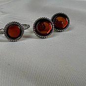 Украшения handmade. Livemaster - original item Jewelry set, silver set, jewelry with amber. Handmade.