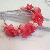 Украшения ручной работы. Ярмарка Мастеров - ручная работа Ободок цветочный. Handmade.