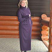 Одежда handmade. Livemaster - original item Jersey dress. Maxi. Color violet. Handmade.