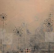 """Картины и панно ручной работы. Ярмарка Мастеров - ручная работа Интерьерная абстракция """"Fog of summer"""". Handmade."""