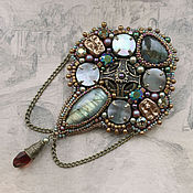 "Украшения handmade. Livemaster - original item ""The Talisman""  - medal brooch with labradorite. Handmade."