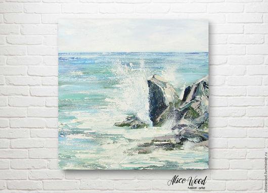 Alice Wood / 3D картина. Пейзаж ручной работы. Ярмарка Мастеров - ручная работа. Купить картину «Море». Картина с морем. Картина маслом на холсте. Моской пейзаж. Handmade