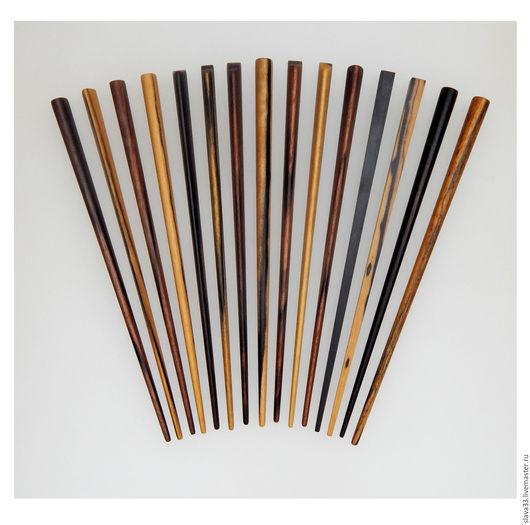 Заколки ручной работы. Ярмарка Мастеров - ручная работа. Купить Шпильки для волос из дерева. Handmade. Black and white ebony