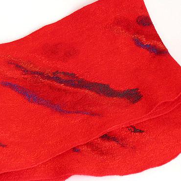 """Аксессуары ручной работы. Ярмарка Мастеров - ручная работа Шарфы: Валяный шарф """"Французский поцелуй"""". Handmade."""