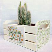 Для дома и интерьера ручной работы. Ярмарка Мастеров - ручная работа Ящик–короб салатовый. Handmade.
