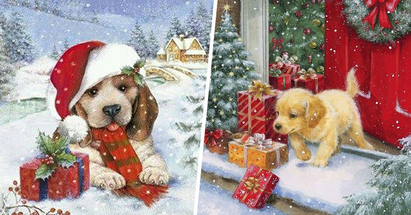между углами новогодние собачки картинки для декупажа был центром собственной