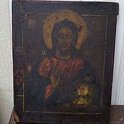 Винтаж handmade. Livemaster - original item Icon old the Almighty Savior with the upcoming PR.Naum 18-19 century. Handmade.
