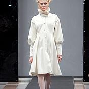 """Одежда ручной работы. Ярмарка Мастеров - ручная работа Белое пальто """"Маруся"""". Handmade."""