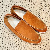 Обувь ручной работы handmade. Livemaster - original item Men`s loafers made of natural suede, to order!. Handmade.
