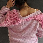Одежда ручной работы. Ярмарка Мастеров - ручная работа Кардиган Розовые Цветы. Handmade.