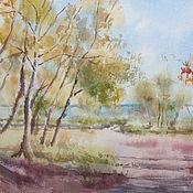 Картины и панно ручной работы. Ярмарка Мастеров - ручная работа Осень картина акварель. Handmade.