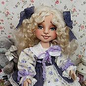 Кукла текстильная. Анжелика кукла интерьерная с объемным личиком
