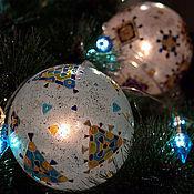 Подарки к праздникам ручной работы. Ярмарка Мастеров - ручная работа Гирлянда с 3-мя шарами. Handmade.