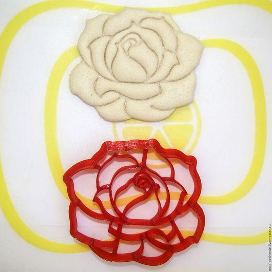 Роза (01). Вырубка-штамп для пряника, печенья, мастики, поделок из соленого теста.
