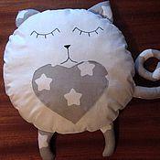 Для дома и интерьера ручной работы. Ярмарка Мастеров - ручная работа Кот сплюшка, подушка игрушка. Handmade.