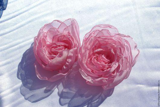 """Заколки ручной работы. Ярмарка Мастеров - ручная работа. Купить «Дикая Роза нежно-розовая» (""""Wild Rose -Pink""""). Handmade."""