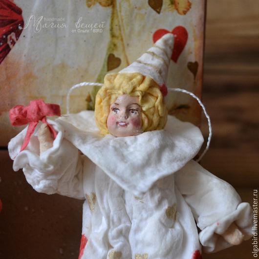 Новый год 2017 ручной работы. Ярмарка Мастеров - ручная работа. Купить Ватная елочная игрушка ДЕТКИ АРЛЕКИНО. Handmade. арлекино