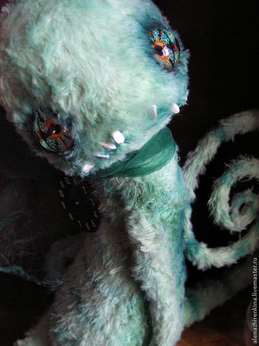 Коллекционные куклы ручной работы. Ярмарка Мастеров - ручная работа. Купить Хамелеон. Handmade. Коллекционные игрушки, опилки