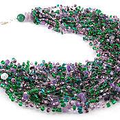 Украшения handmade. Livemaster - original item Crochet necklace fashion Natural jewelry Gemstones Handcrafted beads. Handmade.