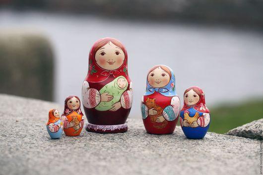 """Подарки на Пасху ручной работы. Ярмарка Мастеров - ручная работа. Купить Матрёшка """"Много мама"""". Handmade. Комбинированный, подарок на Пасху"""