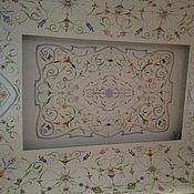 Русский стиль ручной работы. Ярмарка Мастеров - ручная работа Роспись потолка в русском стиле. Handmade.