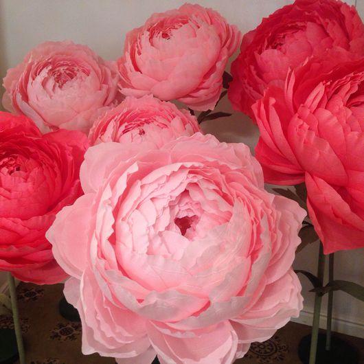 Цветы ручной работы. Ярмарка Мастеров - ручная работа. Купить Бумажные цветы на подставках. Handmade. Бумажные цветы, декор интерьера