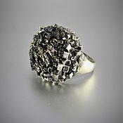 Украшения handmade. Livemaster - original item Partenia ring in 925 sterling silver with pyrite. Handmade.