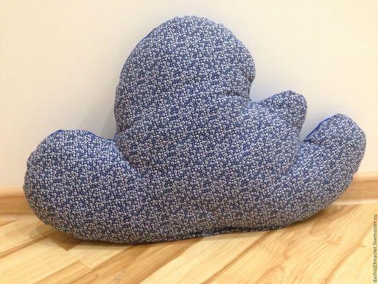 """Текстиль, ковры ручной работы. Ярмарка Мастеров - ручная работа. Купить Подушка """"Облачко"""". Handmade. Синий, подушка, подарок"""