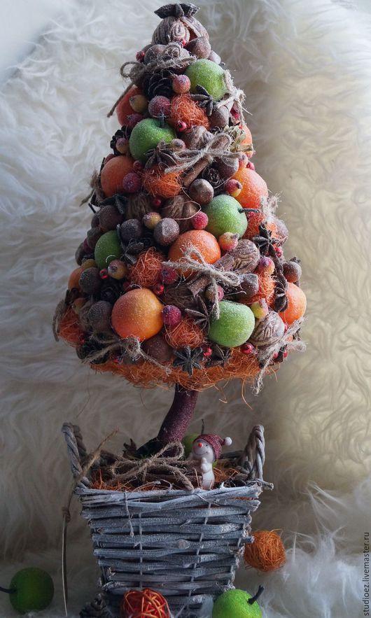 """Топиарии ручной работы. Ярмарка Мастеров - ручная работа. Купить Топиарий """"Ароматная елочка"""". Handmade. Тёмно-зелёный, новогодний подарок"""